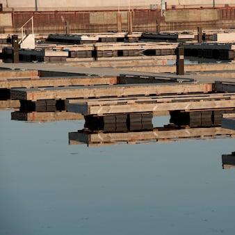 Hafen in gimli, manitoba, kanada