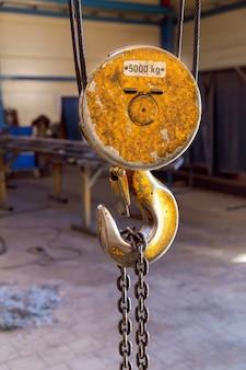 Haken für industriekran. hängekran-haken- und kettenfabrik