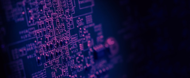 Halbleiter-cpu-chip auf der grünen hauptplatine des computers halbleiter-motherboard