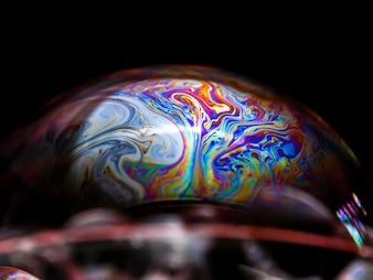 Halbseife Blasen-Ballzusammenfassungs-Hintergrundhalbkreis.