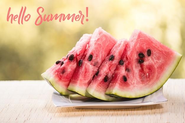 Hallo sommer grußkarte