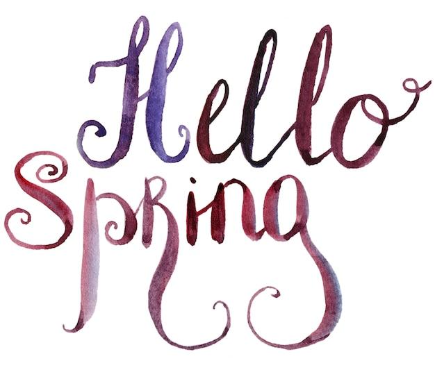 Hallo spring schriftzug