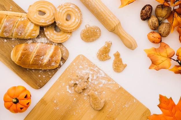 Halloween bäckerei konzept