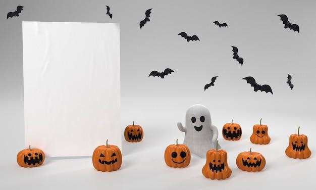 Halloween-dekorationen mit geist