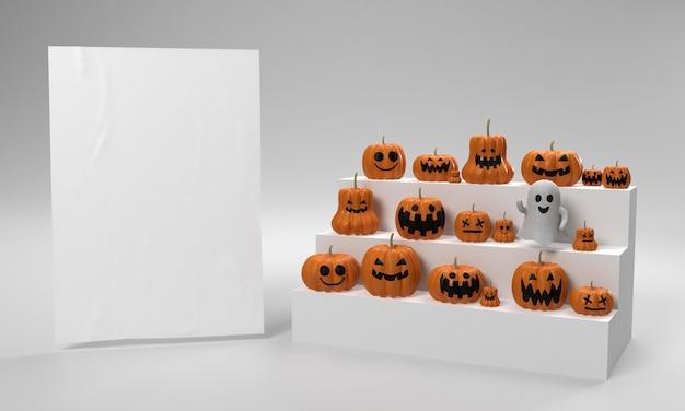 Halloween-dekorationen mit kürbis