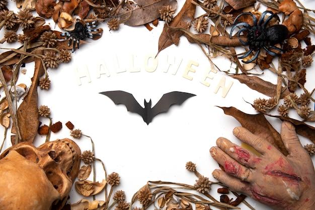 Halloween fledermäuse im hintergrund
