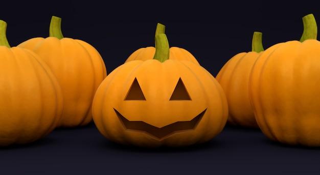 Halloween geschnitzter kürbiskopf jack