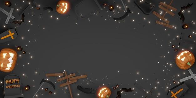 Halloween hintergrund kopie raum festival tag hintergrund 3d-darstellung