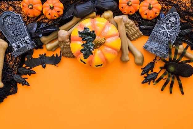 Halloween hintergrund zusammensetzung