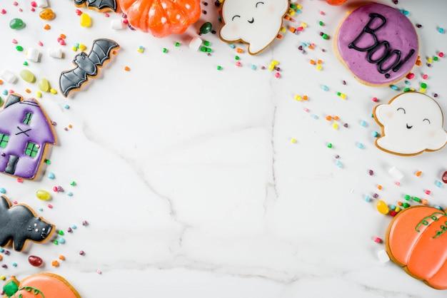 Halloween kekse und süßigkeiten