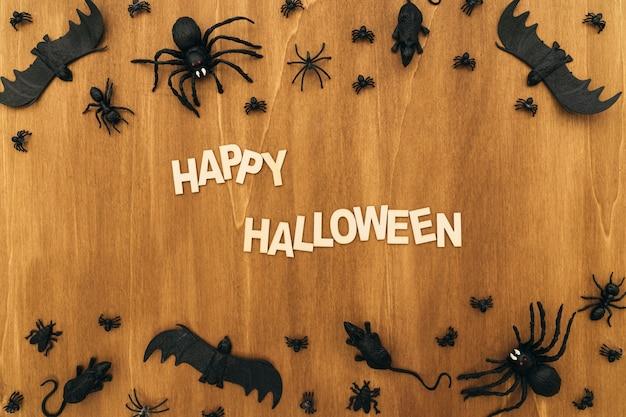 Halloween-komposition mit briefen