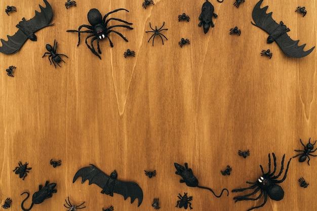 Halloween-komposition mit platz in der mitte