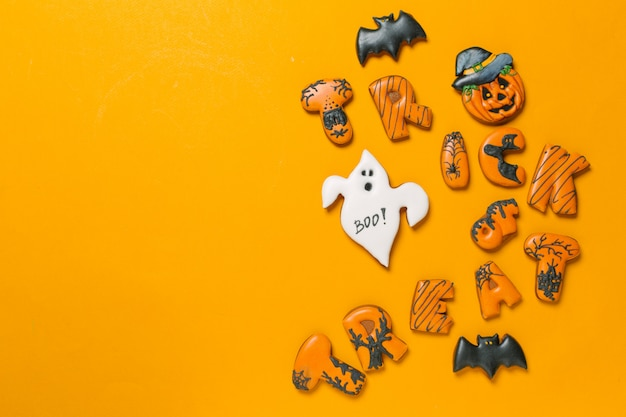Halloween-konzept mit keksen