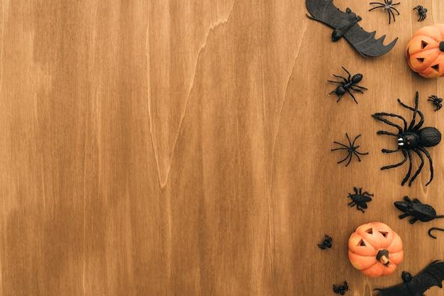 Halloween-konzept mit platz auf der linken seite