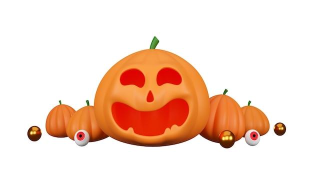 Halloween-kürbisse auf weißem hintergrund