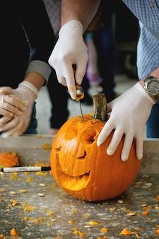 Halloween kürbisse herstellen