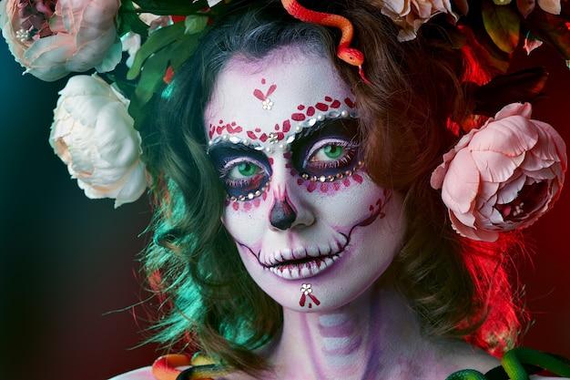 Halloween machen zuckerschädel schönes modell