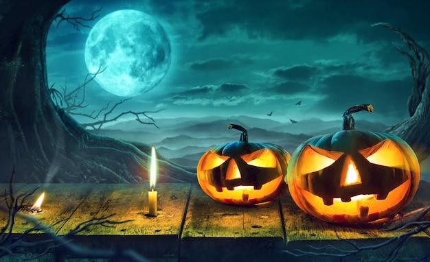 Halloween-nachtkonzept