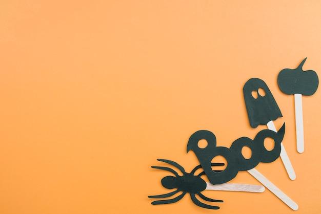 Halloween-set mit boo-zeichen