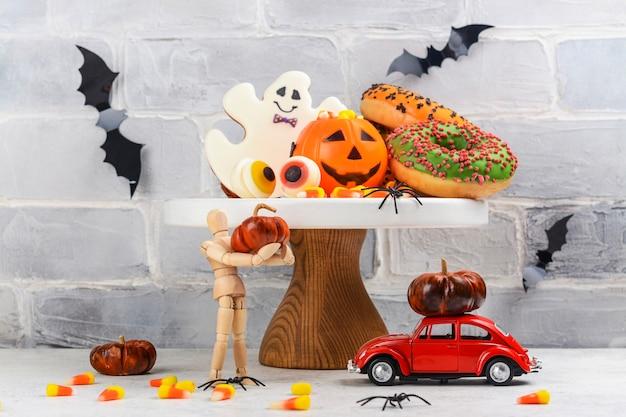 Halloween süßes oder saures partytisch