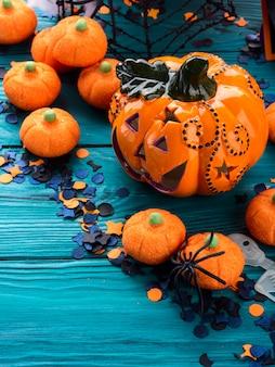 Halloween süßes oder saures stillleben