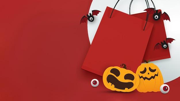 Halloween-verkaufsbanner-design