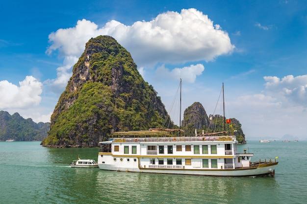 Halong bucht, vietnam panoramablick