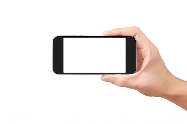 Halten sie handys, smartphones und touchscreen-technologie