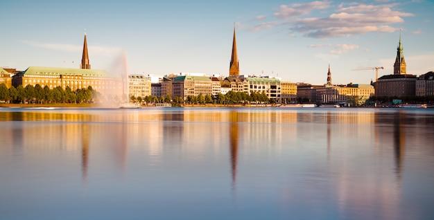 Hamburg, blick über die binnenalster
