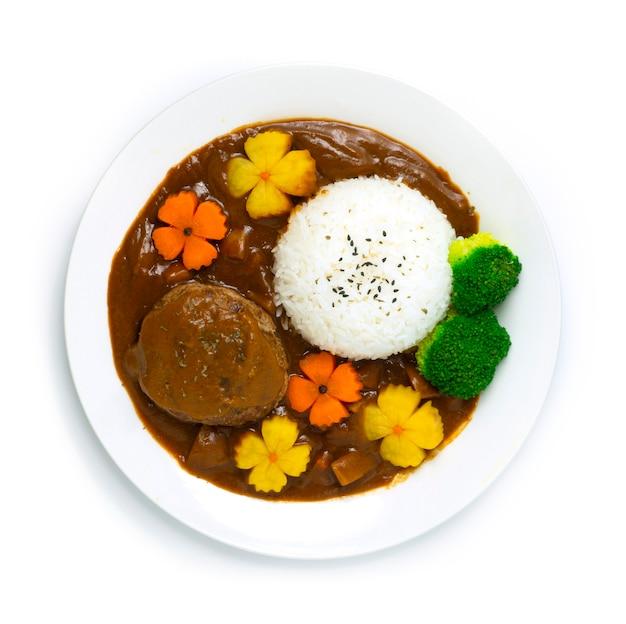 Hamburger curry reis japanische hambagu curry sauce