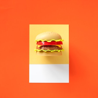 Hamburger-fast-food-spielzeuggegenstand