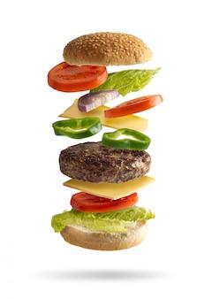 Hamburger mit zutaten