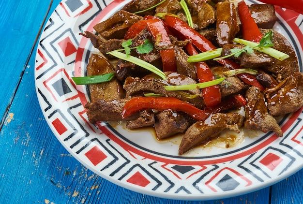 Hammelniere gebraten, dungan-küche