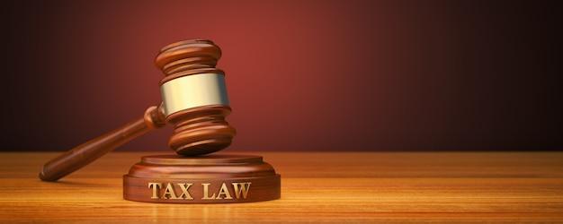 Hammer und soundblock mit textsteuergesetz
