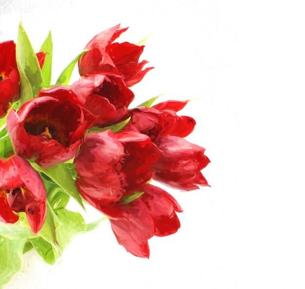 Hand bemalt floralen hintergrund
