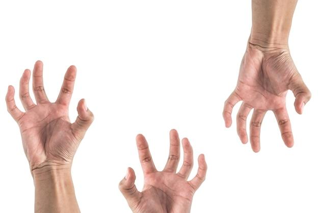 Hand dehnen etwas, sehen aus wie zombie-set