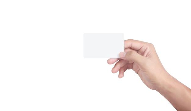 Hand, die eine virtuelle karte hält, die mit ihrem zeigt