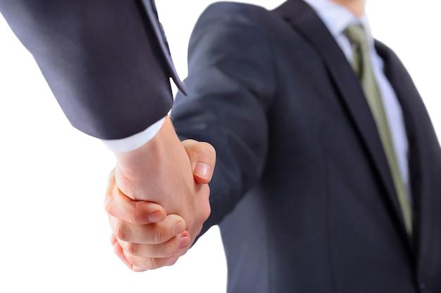 Hand für einen handschlag.