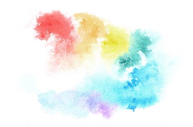 Hand gezeichnete aquarellform in mischtönen für ihr design. kreativer gemalter hintergrund, handgemachte dekoration