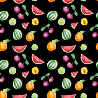 Hand gezeichnetes fruchtmuster