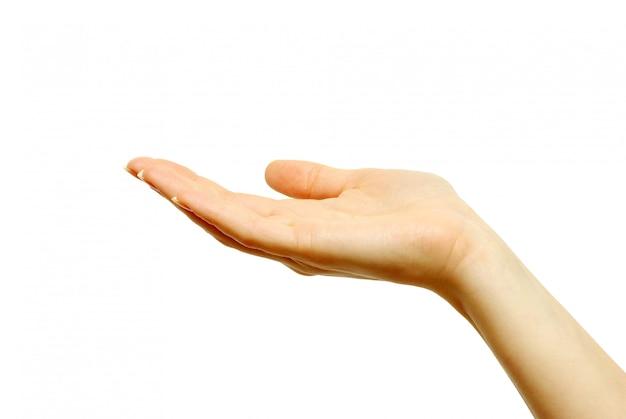 Hand hält etwas