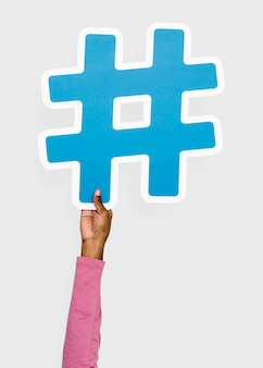 Hand hob holding-hashtagikone an