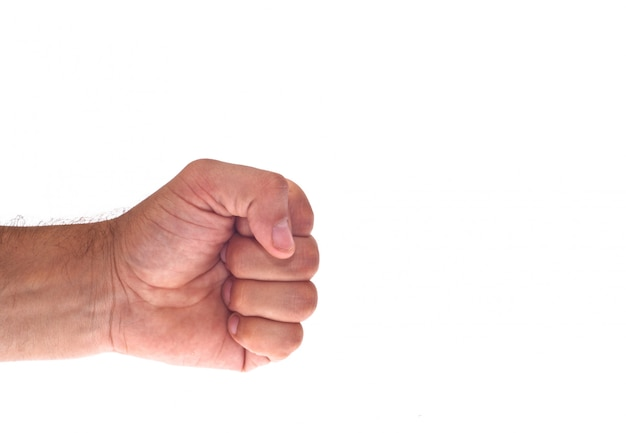 Hand mit geballter faust