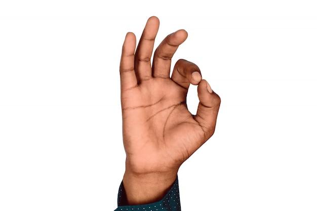 Hand mit ok geste