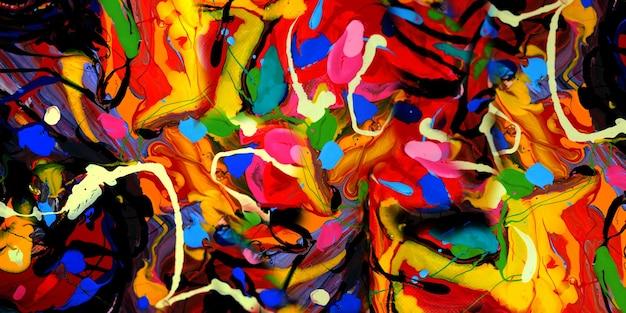 Hand zeichnen ölgemälde auf leinwand abstrakten hintergrund mit strukturiertem