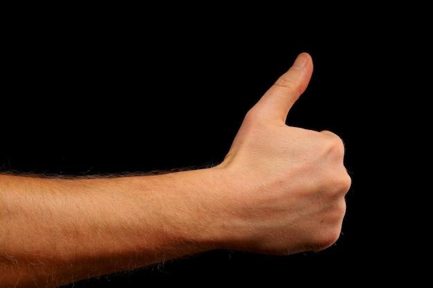 Hand zeigt wie nahaufnahme