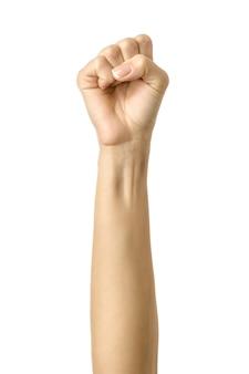 Hand zu einer faust geballt