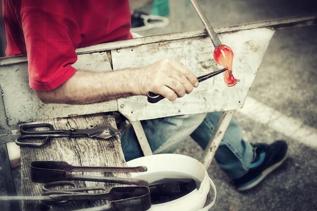 Handarbeit aus glasblasen