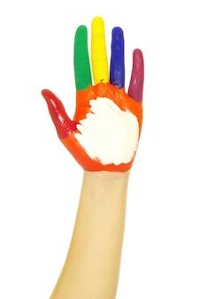 Handbemalt in bunten farben auf weiß
