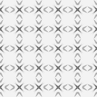 Handbemalte gekachelte aquarellgrenze schwarz und weiß herrliches boho-chic-design gekachelter aquarellhintergrund textil bereit gefällige druckbadebekleidungsstoffverpackung